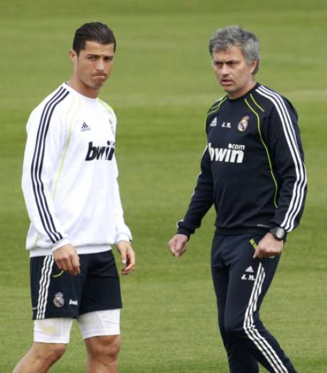 José Mourinho e Cristiano Ronaldo estiveram juntos no Real Madrid (Foto: Andrea Comas)