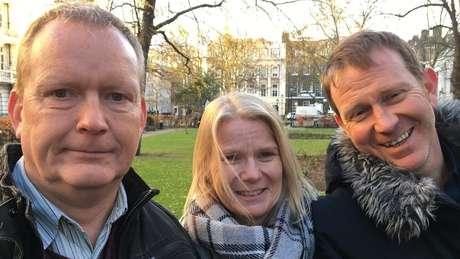 Peter tem doença Huntington e seus irmãos Sandy e Frank também têm o gene. Foto: James Gallagher