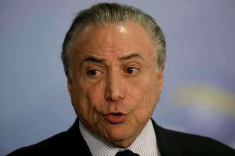 Presidente Michel Temer fala durante evento no Palácio do Planalto, em Brasília 28/09/2017  REUTERS/Ueslei Marcelino
