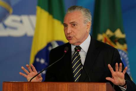 Presidente Michel Temer durante discurso no Palácio do Planalto