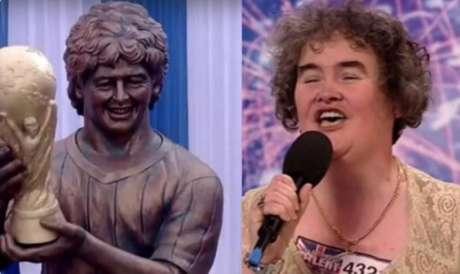 Estátua de Maradona é alvo de piadas nas redes sociais