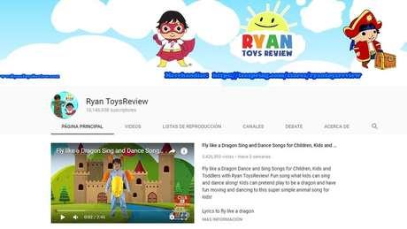 Desde que o canal foi lançado, em março de 2015, os vídeos do menino acumulam 16,87 bilhões de visualizações | Foto: Reprodução/YouTube/Ryan ToysReview