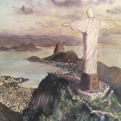 Ronaldo Serafim gosta de se inspirar em paisagens do mundo todo para fazer suas pinturas