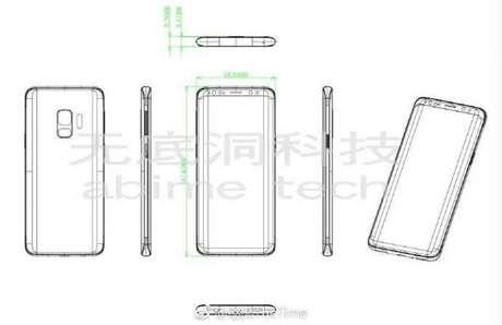 Esquema gráfico mostra possível visual do Galaxy S9 (Imagem: Weibo)