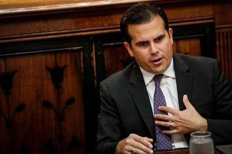 Governador de Porto Rico Ricardo Rossello durante entrevista em Nova York  2/11/2017    REUTERS/Brendan McDermid