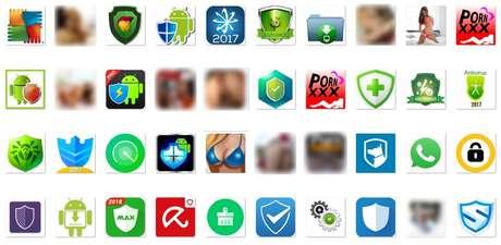 Ícones dos aplicativos da Google Play que podem trazer o Loapi consigo