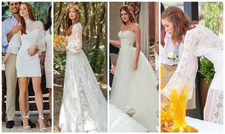 Quatro vestidos e 4 casamento (Fotos: Reprodução/Instagram)