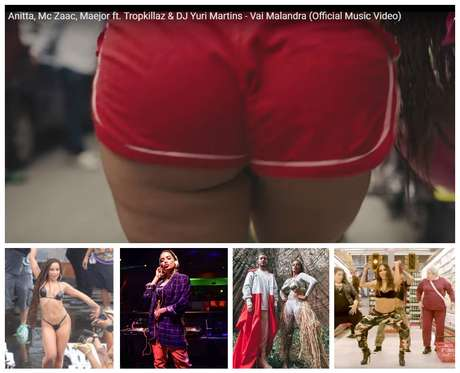 """Anitta com celulite e embaixo no clipe Vai Malandra, com paletó, na Amazônia, com o DJ Alesso e dançando """"Paradinha"""" (Fotos: Agnews/Reprodução)"""