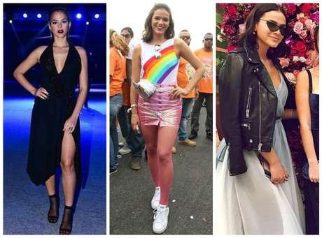 Bruna Marquezine e suas escolhas fashion (Fotos: AgNews/Reprodução/Instagram)