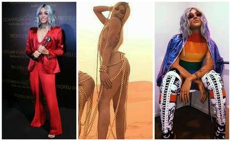 """Pabllo no Melhores do Ano, no clipe """"Sua Cara"""", com Anitta e após o show na Augusta (Fotos: AgNews/Reprodução/Instagram)"""