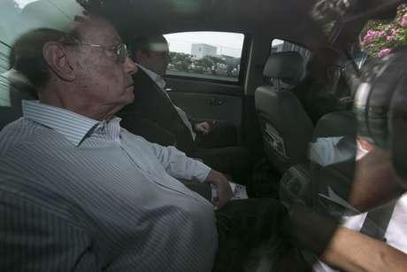 O Deputado Federal, Paulo Maluf se entrega para a Polícia Federal em São Paulo (SP), na manhã desta quarta-feira (20).
