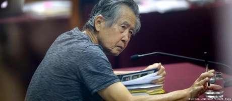 Fujimori em foto de 2014, durante julgamento