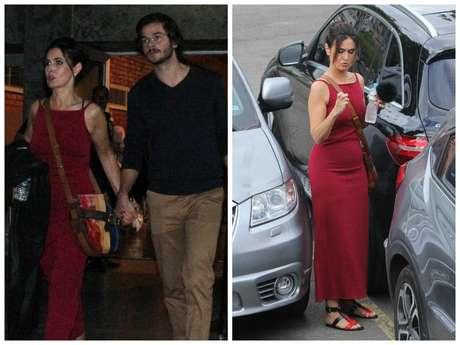 Fátima Bernardes: vestido vermelho (Fotos: AgNews)