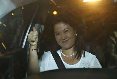 Keiko Fujimori, filha de Alberto Fujimori, chega para visitar o pai após indulto do presidente Pedro Pablo Kuczynski