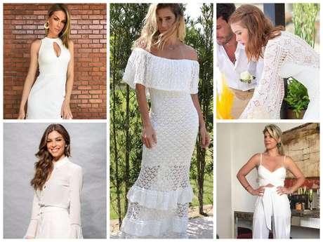 Looks brancos para Réveillon (Fotos: Instagram/Reprodução - TV Globo/Divulgação)