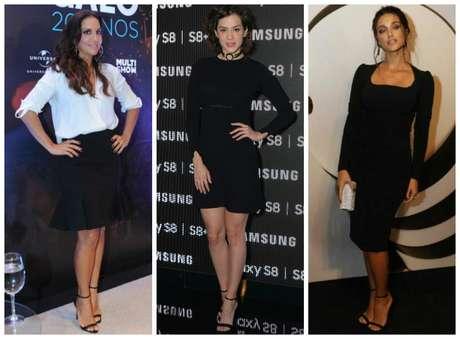 Ivete Sangalo, Sophia Abrahão e Débora Nascimento (Fotos: AgNews)