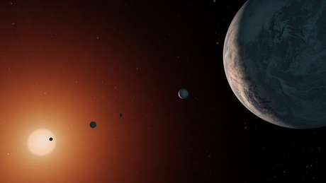 Planetas orbitam estrela fria e de pouca massa na constelação de Aquário | Foto: NASA/JPL-Caltech