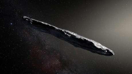 O asteroide Oumuamua é um dos objetos mais longos que já foram observados pelos cientistas | Foto: ESO/M. Kornmesser