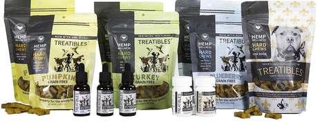 Treatibles é uma empresa de produtos de cânhamo, que faz extratos, cápsulas e petiscos / Foto: Treatibles
