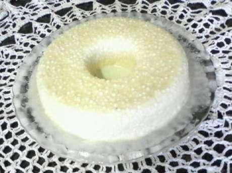 Mousse de tapioca com coco