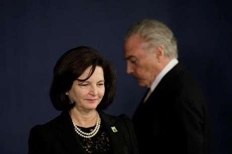 Presidente Michel Temer durante posse da procuradora-geral da República, Raquel Dodge, em Brasília
