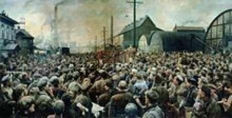 Lenin na usina Putilov (I. Brodsky)