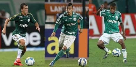 Lucas, João Pedro e Taylor não devem permanecer no Palmeiras em 2018 - Fotos: Agência Palmeiras