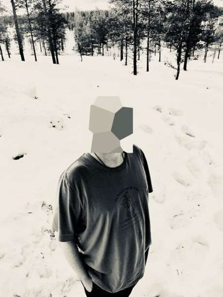 Jonathan Hirshon até tirou uma foto sua em Lapland, na Finlandia, mas escondeu o rosto (Foto: Jonathan Hirshon).