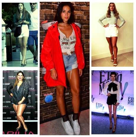Elas amam shorts (Fotos: AgNews/Reprodução/Instagram)
