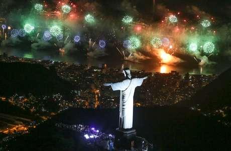 Queima de fogos no Rio de Janeiro