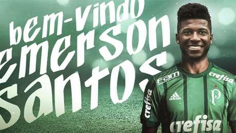 Emerson Santos foi confirmado pelo Palmeiras nesta terça - FOTO: Divulgação