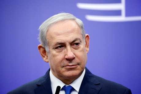 Primeiro-ministro de Israel, Benjamin Netanyahu, fala com repórteres em Bruxelas, na Bélgica 11/12/2017 REUTERS/Francois Lenoir