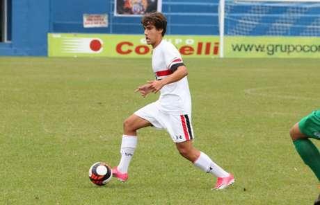 O meia Igor Gomes fez o primeiro gol do São Paulo na Copinha, nesta quarta-feira (Igor Amorim/saopaulofc.net)