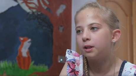 Lucy foi diagnosticada com Protoporfiria Eritropoiéticala aos 7 anos
