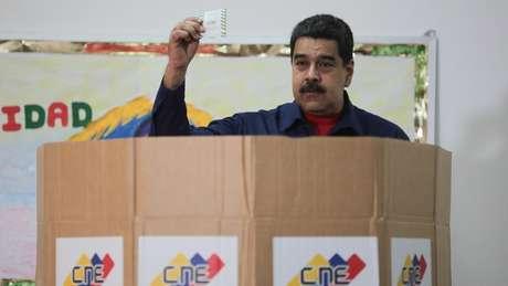 O presidente Maduro parece tentado a adiantar a eleição para aproveitar o momento ruim da oposição