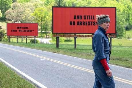 """Frances McDormand levou o prêmio de Melhor Atriz por """"Três Anúncios Para Um Crime"""""""