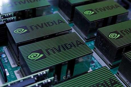 Componentes da Nvidia durante exibição de computadores em Taipé, Taiwan 30/05/2017 REUTERS/Tyrone Siu