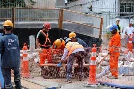 Obras de construção da Linha 4 do metrô do Rio de Janeiro -