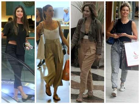 Thaila, Isis, Camila e Carolina: cores básicas para passear (Fotos: AgNews)