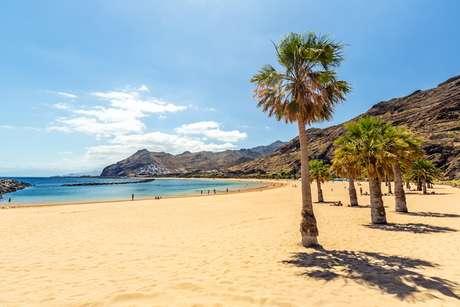 Praia de Las Teresitas, em Terenife, na Espanha