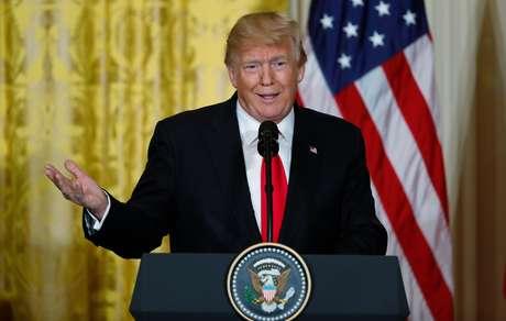 Presidente dos Estados Unidos, Donald Trump, durante coletiva de imprensa na Casa Branca 10/01/2018 REUTERS/Jonathan Ernst