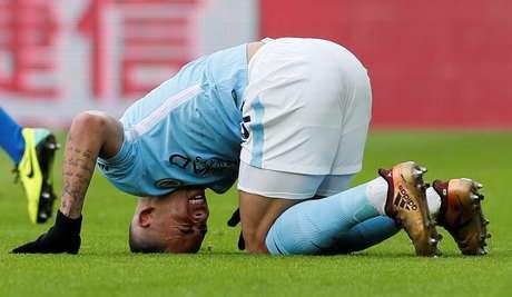 Gabriel Jesus em partida do Manchester City 31/12/2017  REUTERS/David Klein
