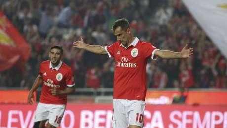 Jonas tem grande participação nos gols do Benfica na atual temporada (Foto: Divulgação)