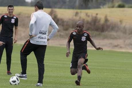 Guilherme Romão em treino do Corinthians nos Estados Unidos (Foto: Daniel Augusto Jr)