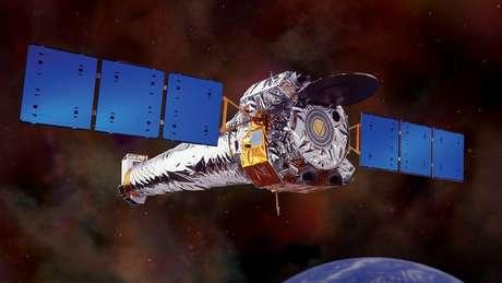 Telescópio espacial Chandra foi usado para indicar com precisão a localização do buraco negro no centro da galáxia | Foto: Nasa