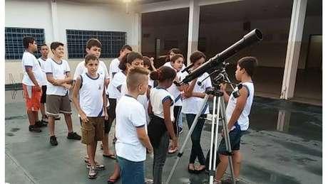 Clube de astronomia foi uma das iniciativas para engajar alunos | Foto: arquivo pessoal