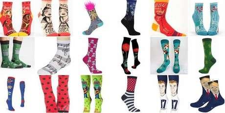 Modelos de meias vendidos por John são os mais variados possíveis