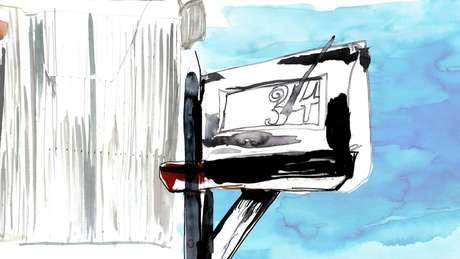 Leitor da BBC enviou as informações que recolheu para policial que era amigo do suspeito no Facebook | Ilustração: Katie Horwich