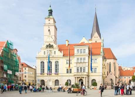 Turistas em Ingolstadt, na Alemanha
