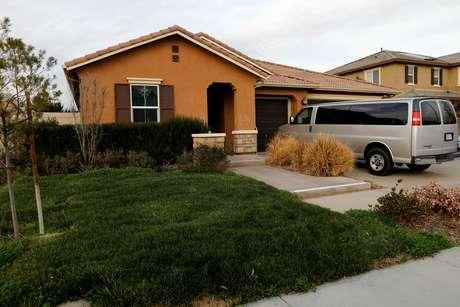 Casa de David Allen e Louise Anna Turpin em Perris, na Califórnia 15/01/2018      REUTERS/Mike Blake